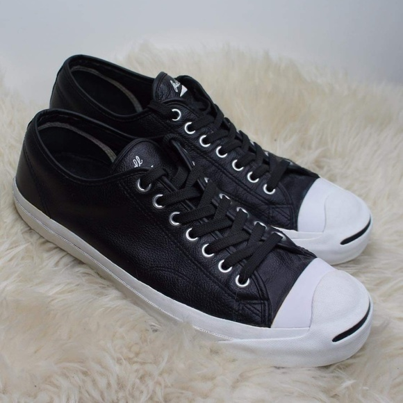 2b214f5a684693 Converse Other - Jack Purcell Black   White Converse Leather